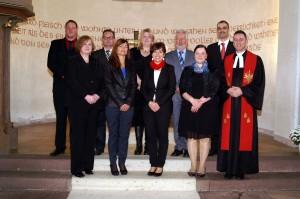 Einführung des Kirchenvorstandes 2013 unter Pfr. Dieter Dersch