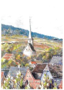 Die kleine Kirche mitten im Dorf